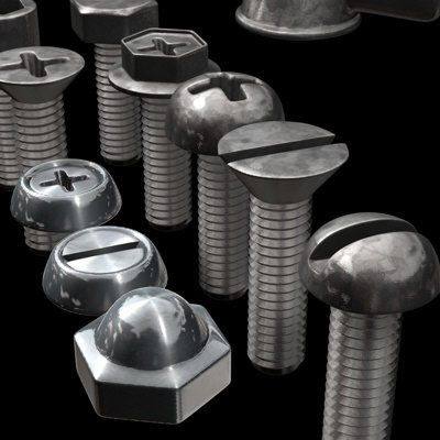 3d screw threads model - Screw collection_... by jaydubin