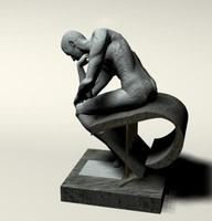 statue rodin thinker 3d model