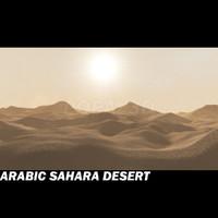 sahara environment 3d model