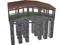 chinese bridge 3d model