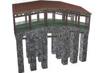 chinese bridge 3d model