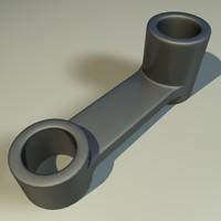 metal component 3d obj