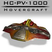 3d hc-pv-1000 hovercraft normal
