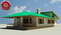 house modelled 3d model