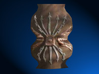 royalty romin shield 3d model