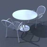 patio chair & table_C4D.zip