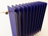 3d blue radiator model