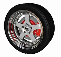 3ds max wheel w tire