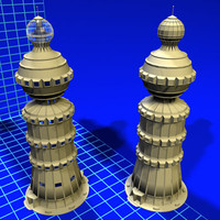3d model sphere tower 080407 01