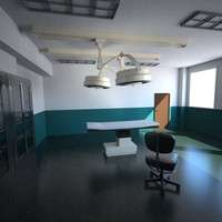 3d surgery room model