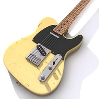 3d model of telecaster tele