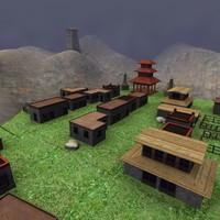 tibetian village 3d model
