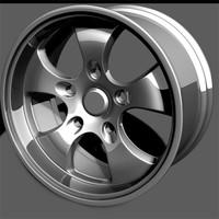 custom wheel 3d model