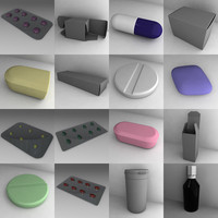3d pills tablets bottles