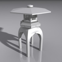 lantern light lamp 3d model