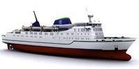 roro ferry 3d model