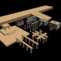 8 egyptian temples 3d model