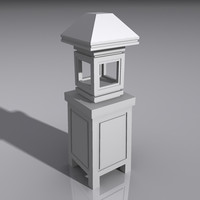 3d model lantern light lamp