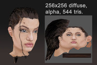 angelina jolie head 3d 3ds