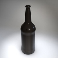 brown glass bottle 3d model