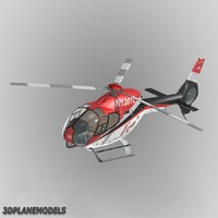 3d eurocopter ec-120b era helicopters model