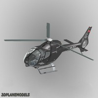 3d model eurocopter ec-120b swiss jet