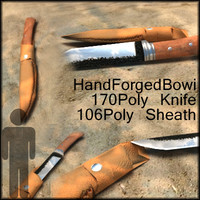 3dsmax bowi knife sheath