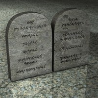 Ten Commandments Stone Tablets
