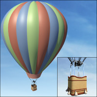 3d hot air balloon model