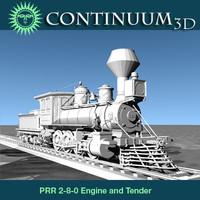 3dsmax prr 2-8-0 locomotives steam