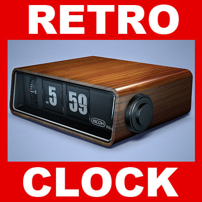 Small Flip with second Retro Alarm Desk Time Clock  YouTube