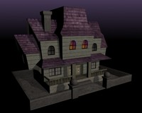 3d spooky house model
