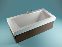 bathtub bathing 3d model
