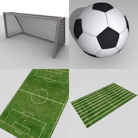 3ds max soccer goal