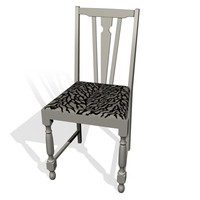 beige chair 3d model