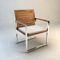 3d model design deck chair