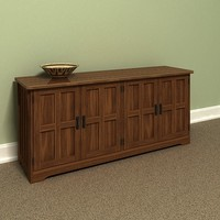 lowboy cabinet 3d max