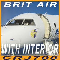 CRJ 700 BRIT AIR with interior