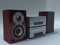 3d stereo speakers model