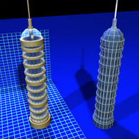 glass dome tower 080307 3d model