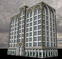 3d hotel shops model