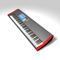 88-key keyboard 3d model