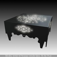 3d ornamented lighted table model