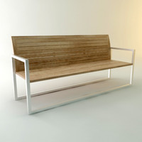 royal chair garden bench 3d model