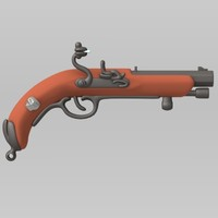 cartoon flintlock pirates 3d obj