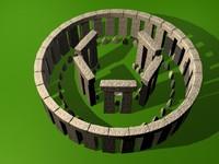 3d model stonehenge stone modeled
