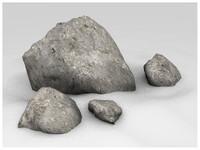 stones rock 3d model