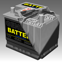 generic car battery interior 3d model