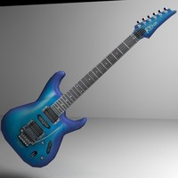 electric guitar low poly