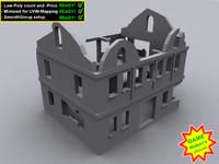 3d ruin house